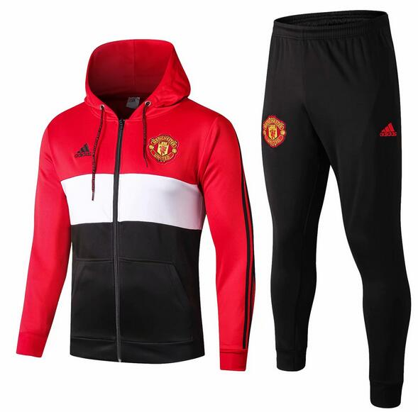 Manchester United Tracksuit 2019-20 Red Hoodie Jacket Top + Pants