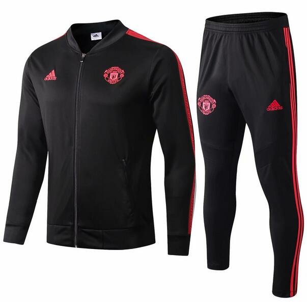 Manchester United Tracksuit 2019-20 Black Jacket Top + Pants