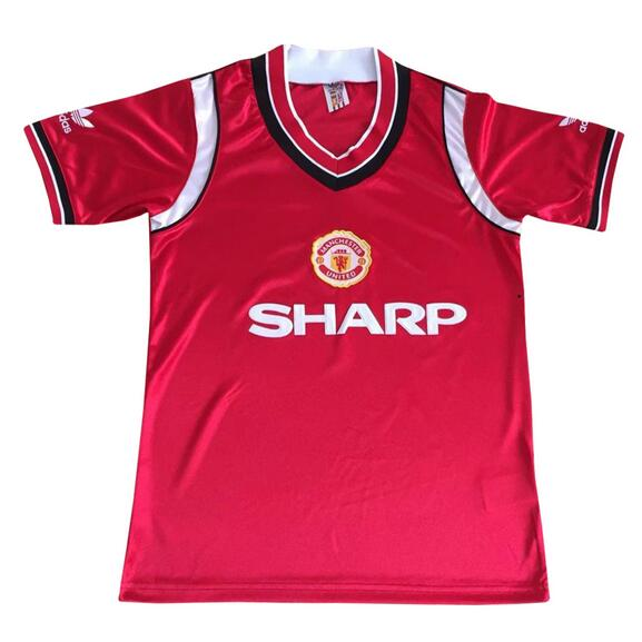 Manchester United Retro Soccer Jerseys 1984 Home Football Shirts