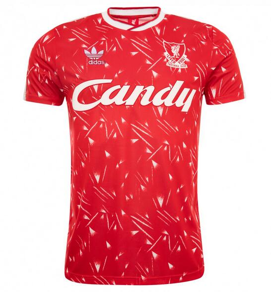 Liverpool Retro Soccer Jerseys 1989-90 Home Football Shirts