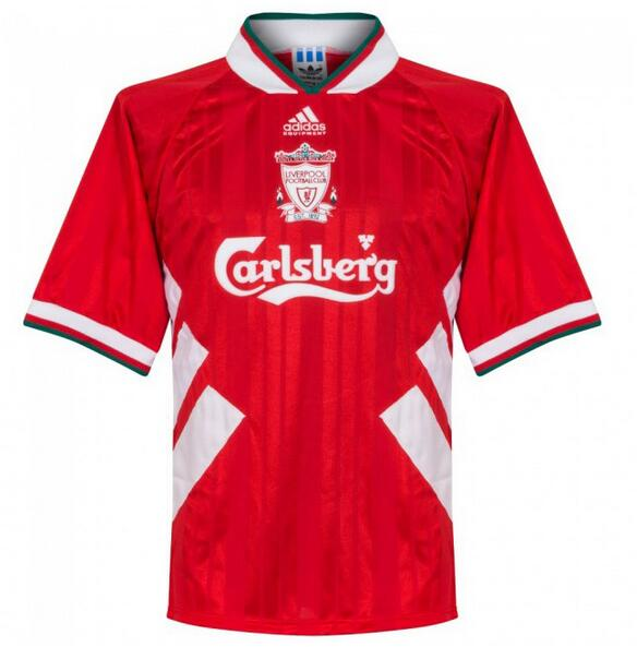 Liverpool Retro Soccer Jerseys 1993-1995 Home Football Shirts