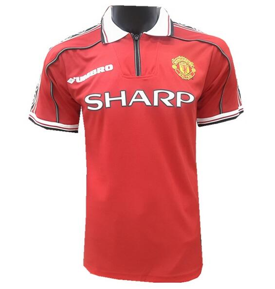 Manchester United Retro Soccer Jerseys 1998-1999 Home Football Shirts