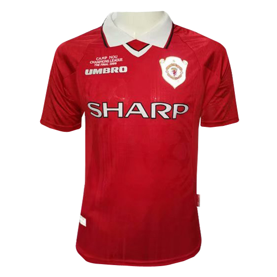 Manchester United Retro Soccer Jerseys 1999-2000 Home Football Shirts