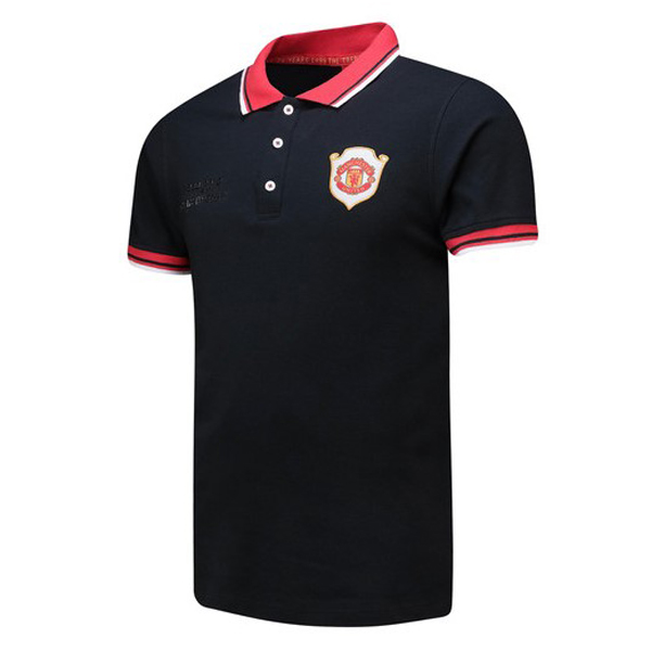 Manchester United Polo Jersey Shirts 1999-2019 Black 20 Years Anniversary