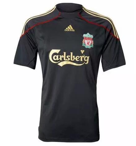 Liverpool Retro Soccer Jerseys 2009-2010 Away Football Shirts