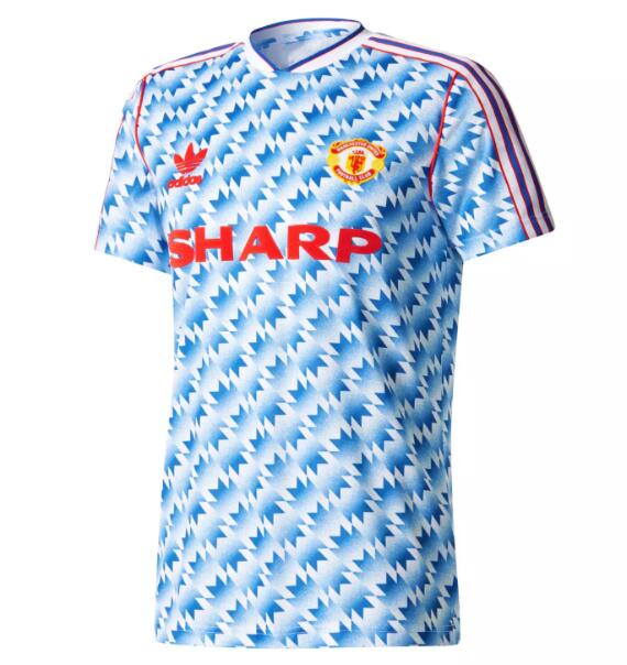 Manchester United Retro Soccer Jerseys 1990-92 Away Football Shirts