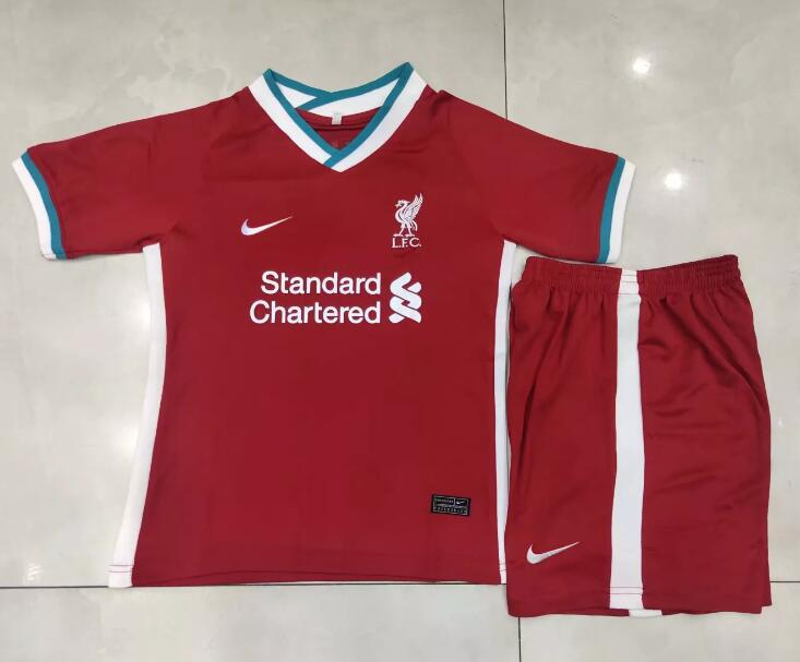 Liverpool Kids Soccer Jerseys 2020-21 Home Football Kits