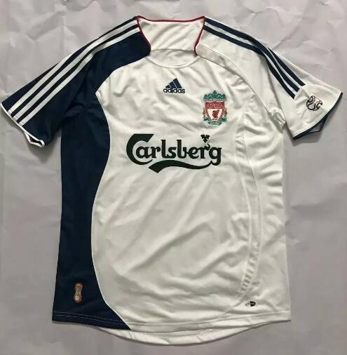 Liverpool Retro Soccer Jerseys 2006-07 Away Football Shirts