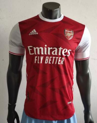 Arsenal Player Version Soccer Jerseys 2020-21 Home Football Shirts
