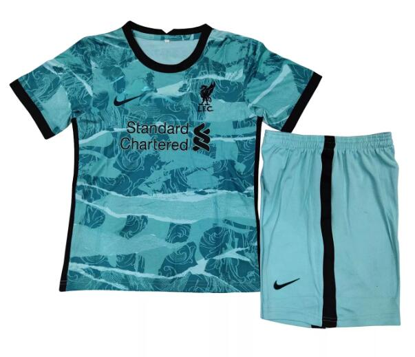 Liverpool Kids Soccer Jerseys 2020-21 Away Football Kits