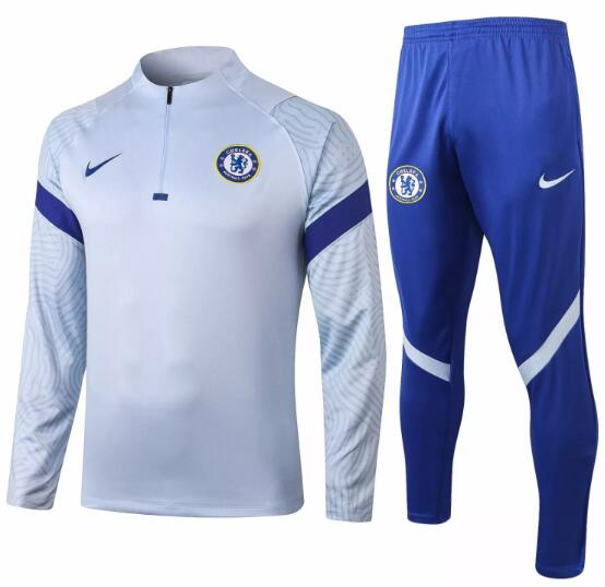Chelsea Tracksuits 2020-21 Grey Top + Pants