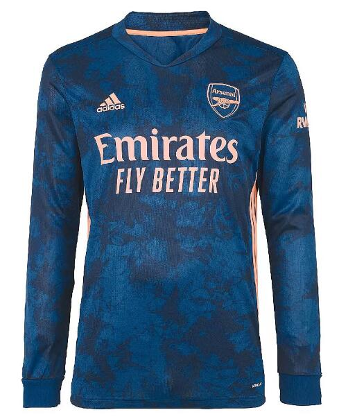 Arsenal Long Sleeve Soccer Jerseys 2020-21 Third Football Shirts