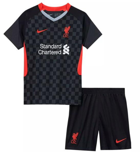 Liverpool Kids Soccer Jerseys 2020-21 Third Football Kits