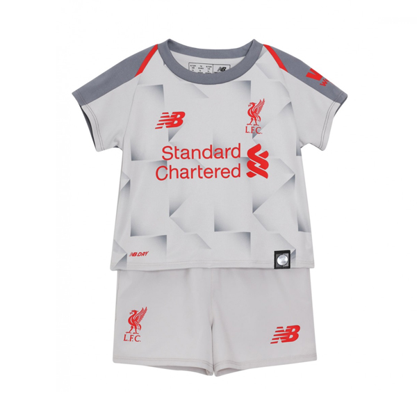Kids Liverpool Soccer Jerseys 2018-19 Third Football Kits (Shirt + Shorts)