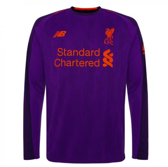 Liverpool Long Sleeve Soccer Jerseys 2018-19 Away Football Shirts