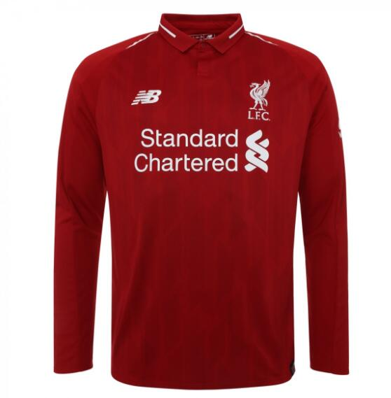 Liverpool Long Sleeve Soccer Jerseys 2018-19 Home Football Shirts