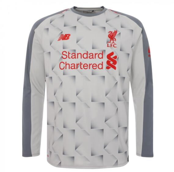 Liverpool Long Sleeve Soccer Jerseys 2018-19 Third Football Shirts