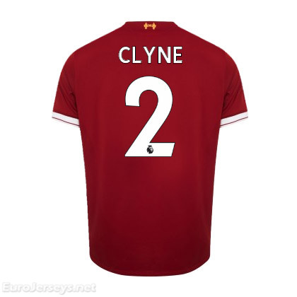 Liverpool Home Best Wholesale Football Kit 2017-18 Clyne #2 Cheap Soccer Jerseys