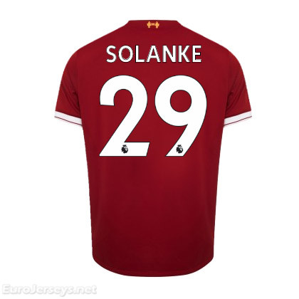 Liverpool Home Best Wholesale Football Kit 2017-18 Solanke #29 Cheap Soccer Jerseys