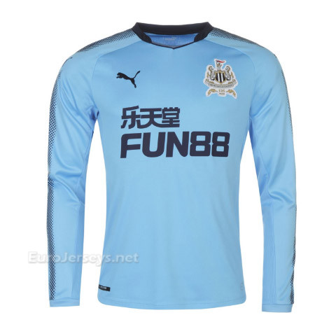 Newcastle United 2017-18 Away Long Sleeved Shirt Soccer Jersey