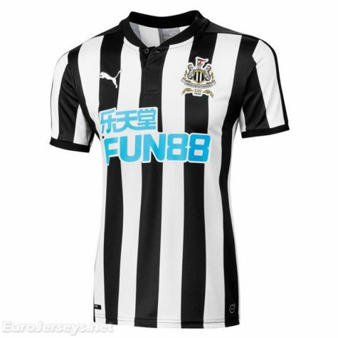Newcastle United 2017-18 Home Shirt Soccer Jersey