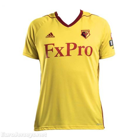 Watford Home Best Wholesale Football Kit 2017-18 Cheap Soccer Jerseys