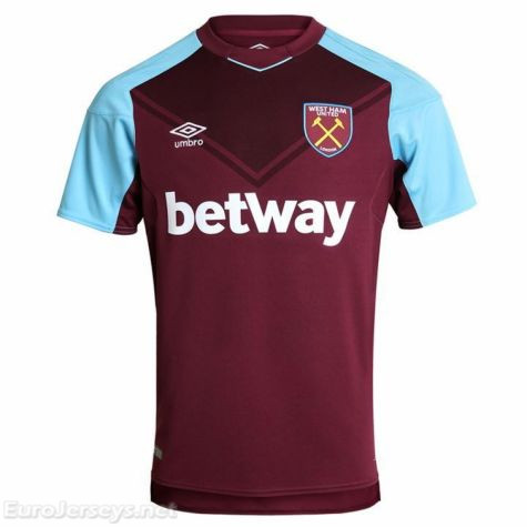West Ham United 2017-18 Home Shirt Soccer Jersey