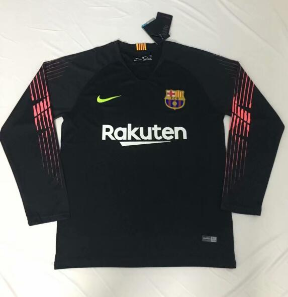 online store b7ec6 7e8a2 Barcelona Goalkeeper Long Sleeve Soccer Jerseys 2018-19 ...