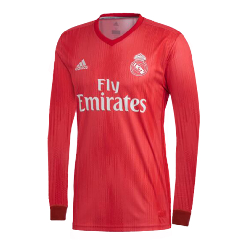 Real Madrid Long Sleeve Soccer Jerseys 2018-19 Third Football Shirts