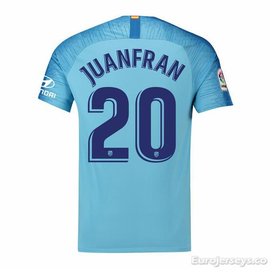 Juanfran 20 Atletico Madrid Soccer Jerseys 2018-19 Away Football Shirts