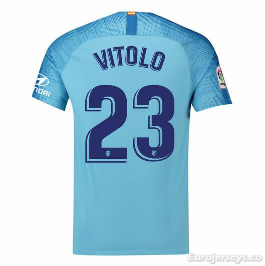 Vitolo 23 Atletico Madrid Soccer Jerseys 2018-19 Away Football Shirts