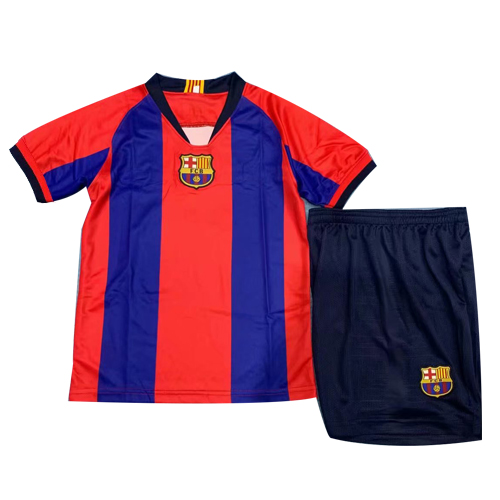 Barcelona Special-Edition For El Clasico Home Children's Jerseys Kit(Shirt+Short) 2019