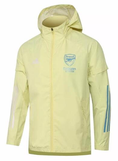 Arsenal All Weather Windrunner Jacket 2020-21 Yellow
