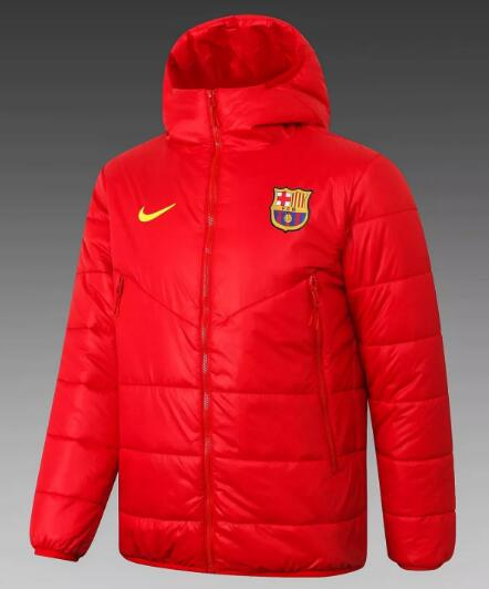 Barcelona Cotton Jacket 2020-21 Red