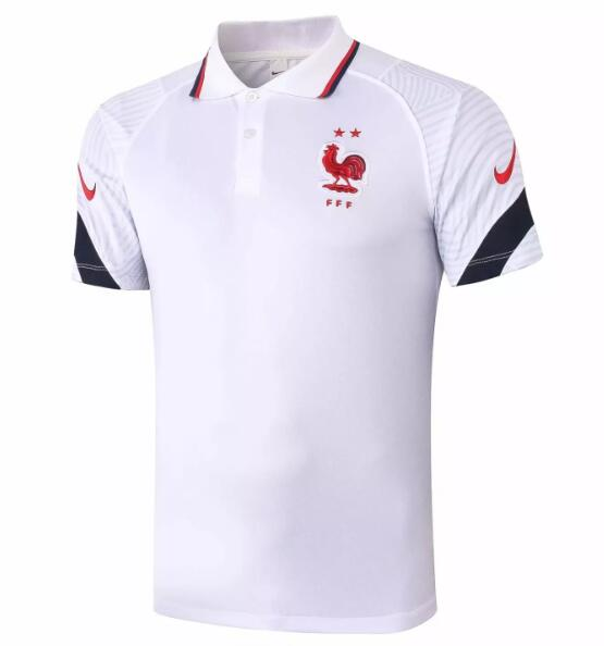France Polo Jersey Shirts 2020 White