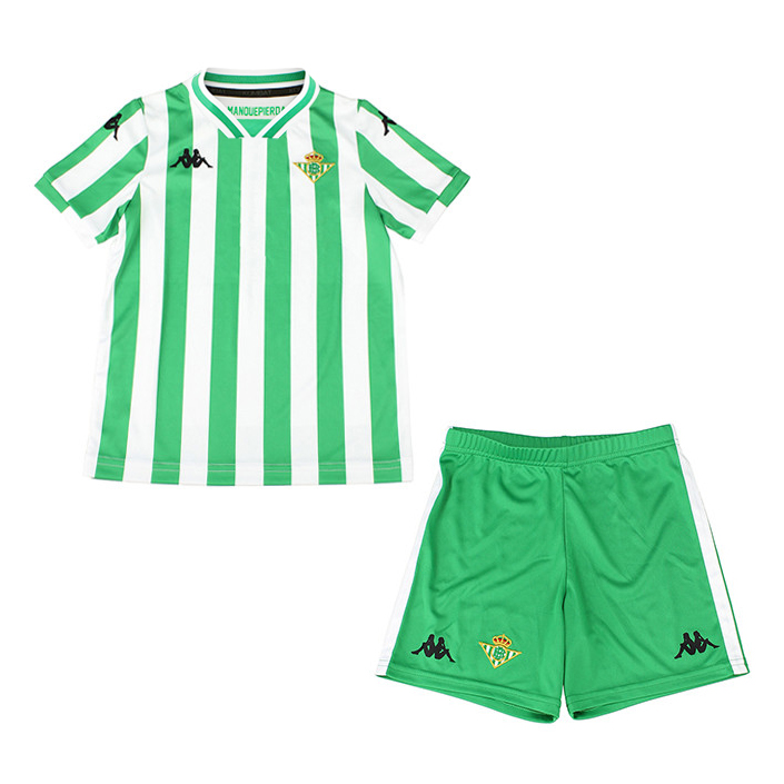 Kids Real Betis Soccer Jerseys 2018-19 Home Football Kits (Shirt + Shorts)