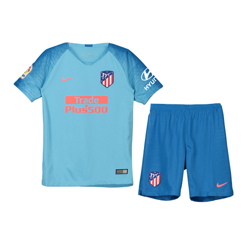 Atletico Madrid Soccer Jerseys 2018-19 Away Football Kits (Shirt+Shorts)