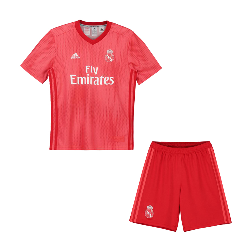 Kids Real Madrid Soccer Jerseys 2018-19 Third Football Kits (Shirt + Shorts)