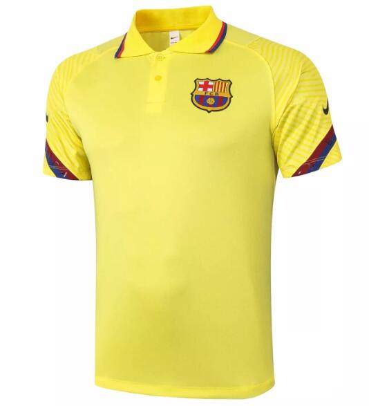 Barcelona Polo Jersey Shirts 2020-21 Yellow