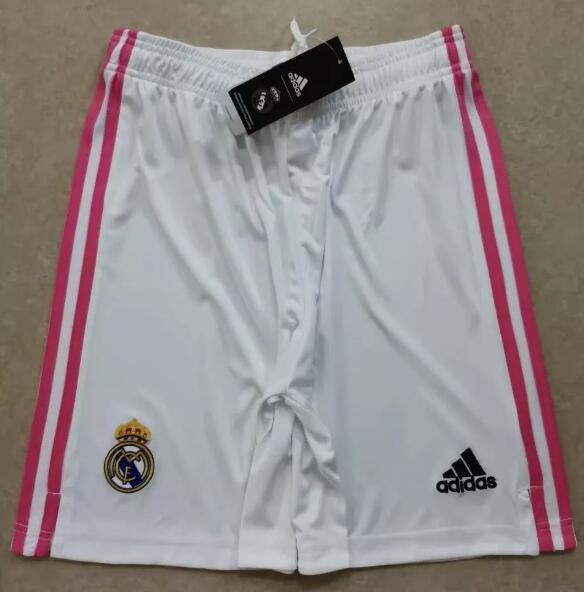 Real Madrid Home White Soccer Shorts 2020-21