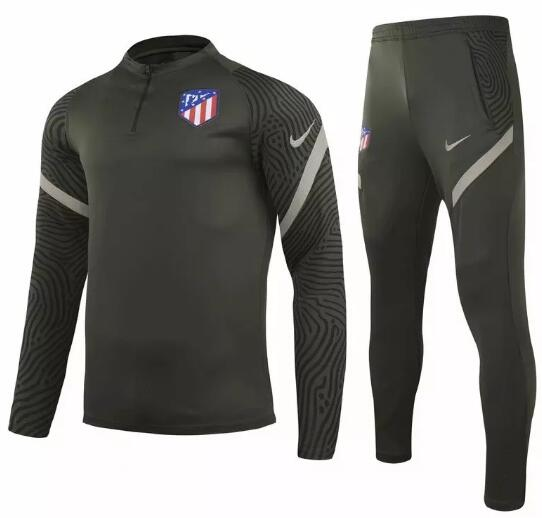 Atletico Madrid Training Kits 2020-21 Green Top + Pants