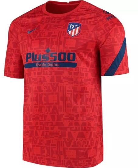 Atletico Madrid Training Jersey 2020-21 Red Football Shirts
