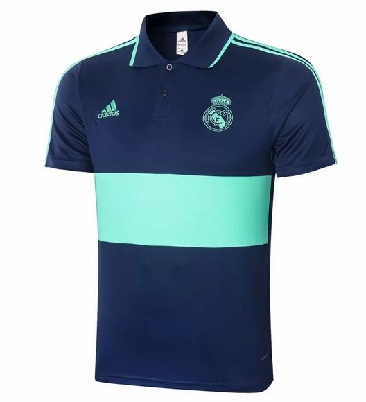 Real Madrid Polo Jersey Shirts 2020-21 Blue