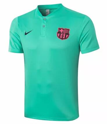 Barcelona Polo Jersey Shirts 2020-21 Green