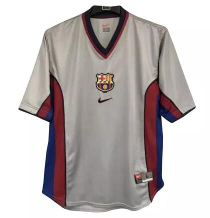 Barcelona Retro Soccer Jerseys 1998 Away Football Shirts