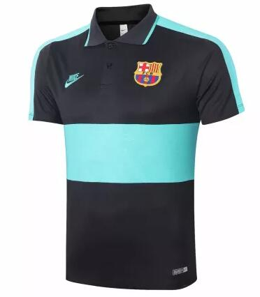 Barcelona Polo Jersey Shirts 2020-21 Black Blue