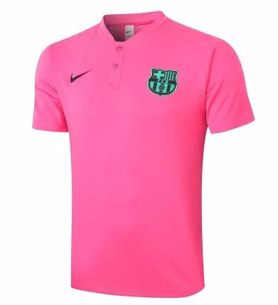 Barcelona Polo Jersey Shirts 2020-21 Pink