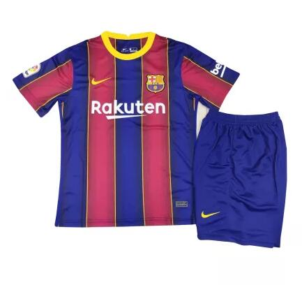 Barcelona Kids Soccer Jerseys 2020-21 Football Kits + Shorts