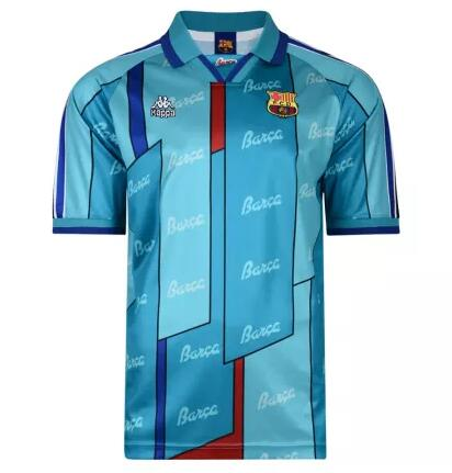 Barcelona Retro Soccer Jerseys 1996-97 Away Football Shirts