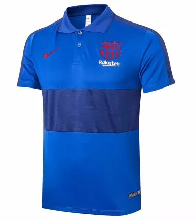 Barcelona Polo Jersey Shirts 2020-21 Blue